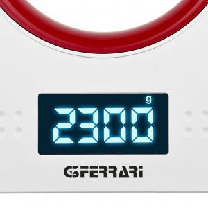 Cantar electronic de bucatarie G3Ferrari Sfera cu bol de capacitate max. 5 kg, diviziune 1g, functie tare si zero, ecran LED, indica suprasarcina si baterie scazuta, oprire automata2