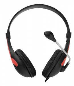 Casti cu microfon Esperanza Rooster rosu pentru gaming conexiune jack 2 x 3.5 separat microfon si separat casca, ajustabile, flexibile0