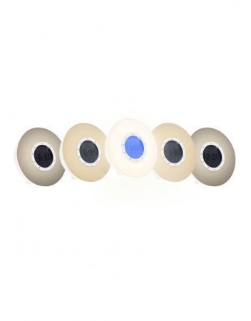 Ceas desteptator cu radio, lumina rasarit si apus alarma si sunete, LED multicolor Lanaform Wake-up [3]