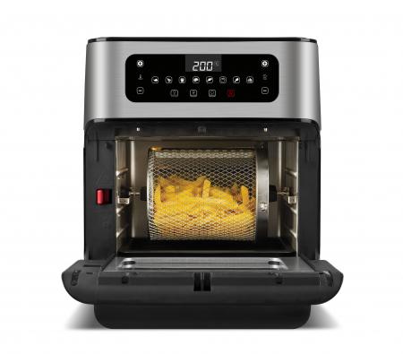 Cuptor cu aer cald multifunctional Girmi Genio FG96 cu 9 programe, ecran digital, 11L, accesorii, timer si reglare temperatura [1]