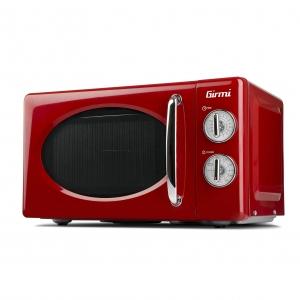 Cuptor cu microunde Girmi retro vintage, 20l, 700W, timer, grill, rosu [1]
