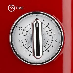Cuptor cu microunde Girmi retro vintage, 20l, 700W, timer, grill, rosu [3]