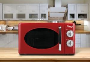 Cuptor cu microunde Girmi retro vintage, 20l, 700W, timer, grill, rosu [2]