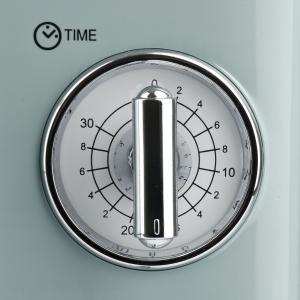 Cuptor cu microunde Girmi retro vintage, 20l, 700W, timer, grill, verde4