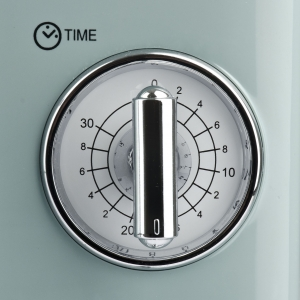 Cuptor cu microunde Girmi retro vintage, 20l, 700W, timer, grill, verde2