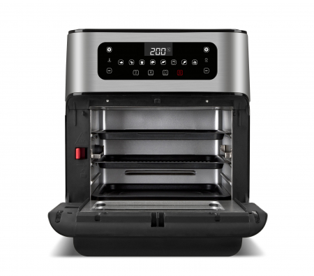 Cuptor cu aer cald multifunctional Girmi Genio FG96 cu 9 programe, ecran digital, 11L, accesorii, timer si reglare temperatura [3]
