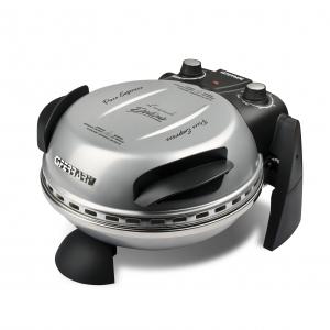 Cuptor pizza G3Ferrari Delizia Silver special cu suprafata de coacere din piatra refractara, termoregulator pana la 400° C si timer cu atentionare sonora4