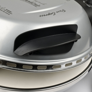 Cuptor pizza G3Ferrari Delizia Silver special cu suprafata de coacere din piatra refractara, termoregulator pana la 400° C si timer cu atentionare sonora2