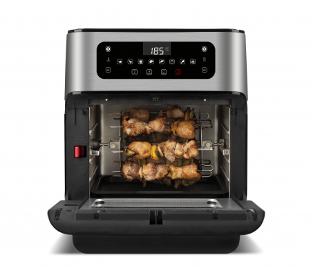 Cuptor cu aer cald multifunctional Girmi Genio FG96 cu 9 programe, ecran digital, 11L, accesorii, timer si reglare temperatura [7]