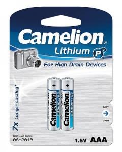 Baterii Baterii lithim  FR03 AAA, sau R3, R03 BP2,  Lithium, blister de 2 buc, Camelion1
