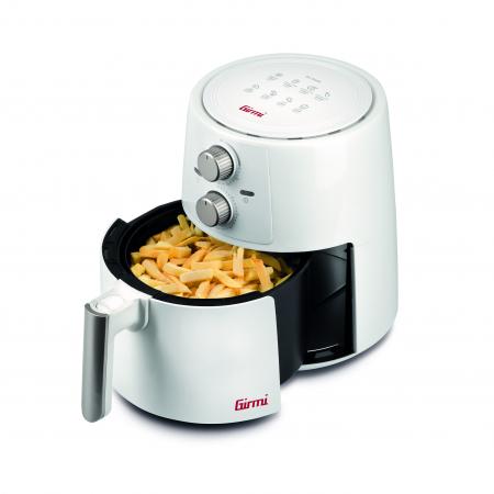 Friteuza cu aer cald fara ulei Girmi FG94 capacitate 3.5L, timer, termostat reglabil 80-200 grade, alb [0]