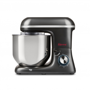Mixer cu bol din otel inoxidabil Girmi Gastronomo cu performante profesionale 6 viteze + functie Pulse, vas 8l, 1400W, negru1