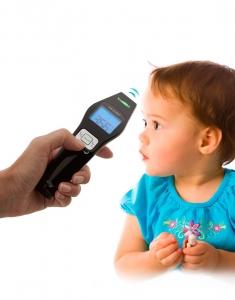 Termometru cu infrarosu Lanaform IR digital non contact pentru corp si alte suprafete, precis si igienic, include 2 baterii AAA alcaline0