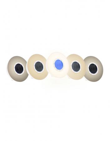 Ceas desteptator cu radio, lumina rasarit si apus alarma si sunete, LED multicolor Lanaform Wake-up [9]