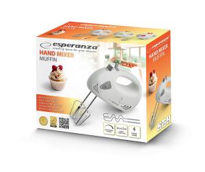 Mixer de mana Esperanza EKM007E Muffin, 125W, Alb1