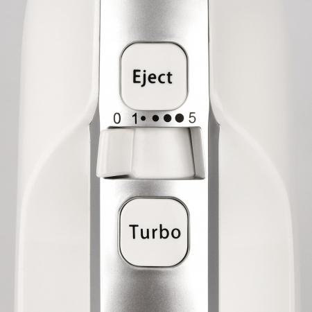 Mixer cu bol rotativ din inox G3Ferrari Bravomix Kit, 3l, 550W, 5 viteze + turbo, detasabil alb [7]
