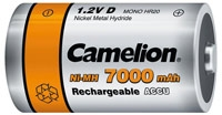 Acumulatori  R20, 7000 mAh, blister de 2 buc, Camelion1