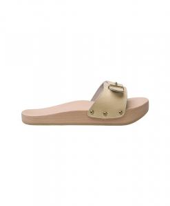 Papuci anticelulitici Lanaform Dynastatic cu talpa din lemn, forma ortopedica, marimea 37, crem3
