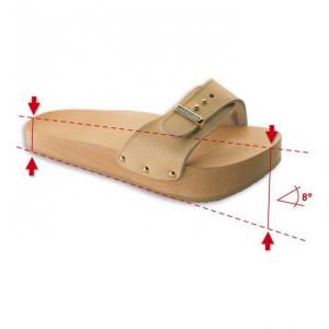 Papuci anticelulitici Lanaform Dynastatic cu talpa din lemn, forma ortopedica, marimea 40, crem0