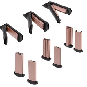 Perie electrica 5 in 1 cu 5 capete, indreptare, ondulare, creare valuri, negru-rose1