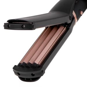Perie electrica 5 in 1 cu 5 capete, indreptare, ondulare, creare valuri, negru-rose7