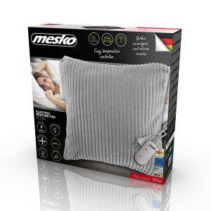 Perna electrica cu incalzire, 2 trepte temperatura, 38x38 cm, material placut, control telecomanda, gri0