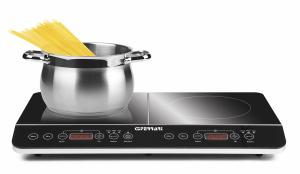 Plita electrica cu inductie G3Ferrari - High Tech Chef, 2 ochiuri 3500W, reglare temperatura si putere, control soft touch, timer si afisaj LCD, oprire automata2