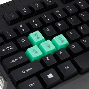 Tastatura gaming USB, iluminata LED verde, 104 taste, Shadow Esperanza3