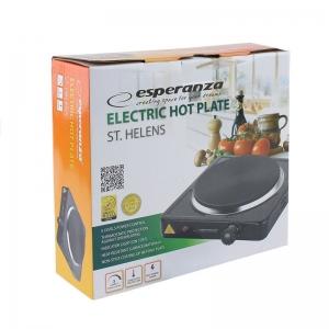 Plita electrica fonta, 1000W, LED indicator, protectie termostatica, negru, Esperanza Helens3