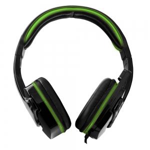 Casti gaming stereo cu microfon si control volum RAVEN Verde fir textil 2m 2 x jack 3.5mm1