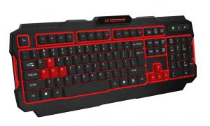Tastatura gaming Shadow iluminata cu LED rosu , design profesional gaming, forma ergonomica, USB, cablu 1.5m taste imprimate cu culoare permanenta1