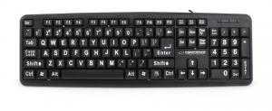 Tastatura Senior conectare USB cu inscrisuri mari pentru persoane in varsta sau cu deficiente de vedere1