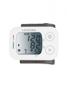 Tensiometru de incheietura Lanaform masuratori precise, total automatizat, ecran LCD, functie de monitorizare a tensiunii arteriale si a ritmului cardiac, memorie masuratori, portabil0