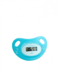 Termometru pentru copii tip suzeta, ecran LCD indicator febra, baterie slaba, semnal sonor, baterie CR2032 CADOU1