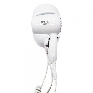 Uscator de par pentru perete, 2 viteze, 1600W, ideal pentru hotel, oprire automata, cablu 1.6 m, alb0