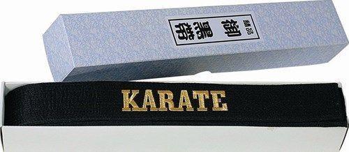 """Centura de  karate strălucitoare,in cutie (cu broderie) """"KARATE"""" [0]"""