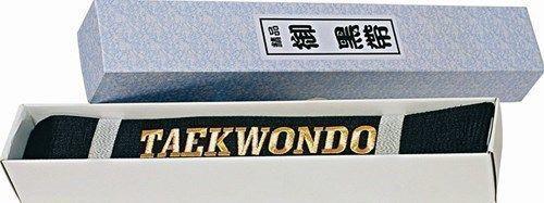 """Centura Taekwon-Do stralucitoare, in cutie (cu broderie """"TAEKWONDO"""") [0]"""