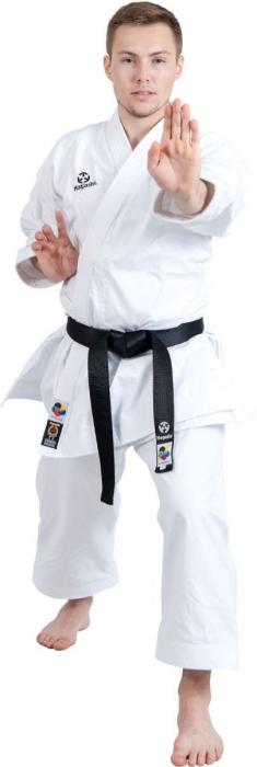 Kimono Dobok,Hayashi, TENNO PREMIUM II WKF pentru Karate, alb,155 cm [0]