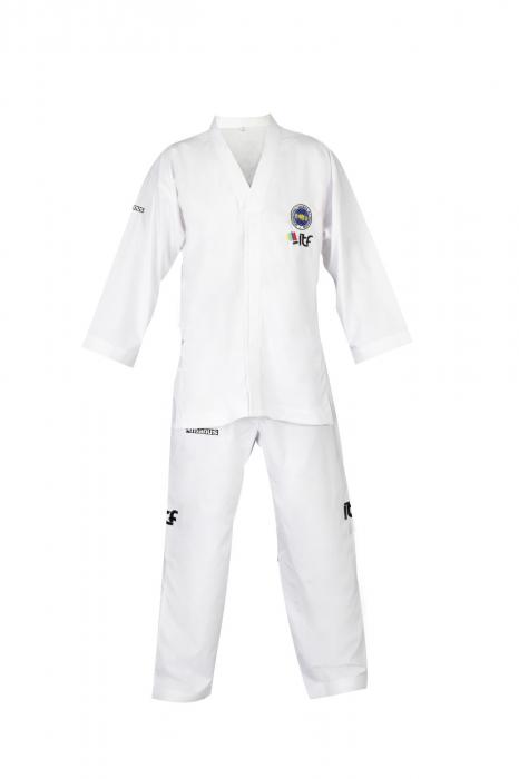 Kimono Dobok,Manus, Student ITF pentru Taekwon-do, alb,110 cm [0]