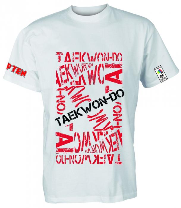 "Tricou ""ITF TAEKWON-DO"" alb [0]"