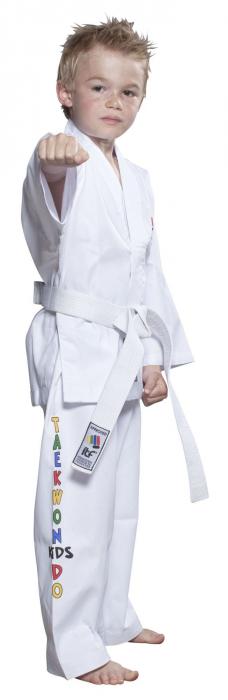 Kimono Dobok,Top Ten, ITF KIDS pentru Taekwon-do, alb,100 EU [0]