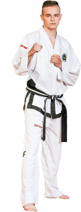 Kimono Dobok,Top Ten, Diamond ITF pentru Taekwon-do, alb,170 cm [0]