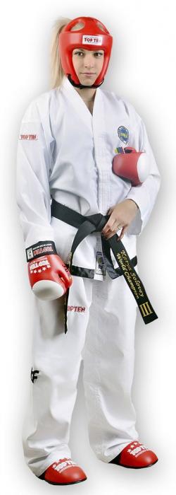 Kimono Dobok,Top Ten, Master ITF pentru Taekwon-do, alb,190 cm [0]