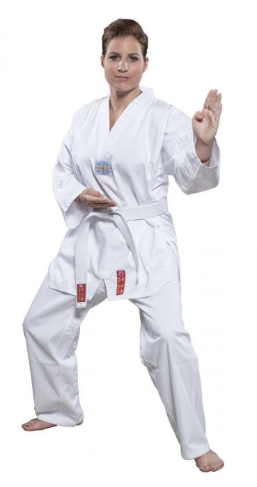 Dobok,Top Ten, Taeguk  pentru Taekwondo, alb,110 cm [0]