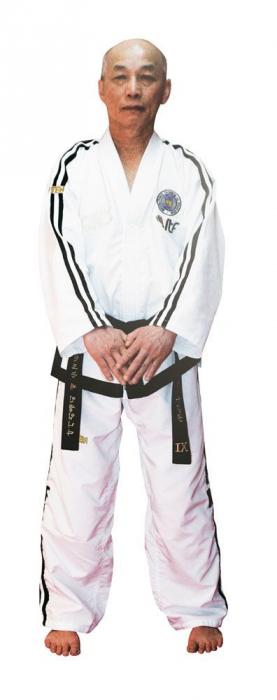 Kimono Dobok,Top Ten, Premium Gold ITF pentru Taekwon-do Grandmaster, alb,160 cm [0]