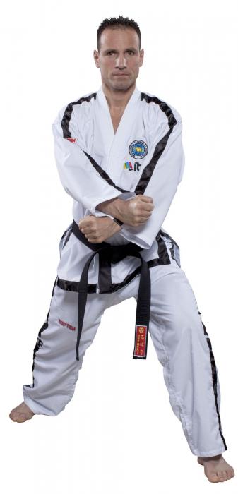 Kimono Dobok,Top Ten, Diamond ITF pentru Taekwon-do Instructor, alb,160 cm [0]