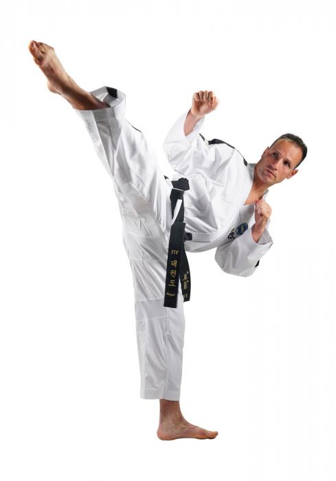 Kimono Dobok,Top Ten, Premium Gold ITF pentru Taekwon-do Instructor, alb,160 cm [0]