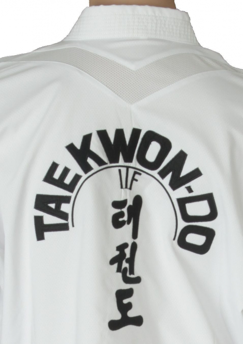 Kimono Dobok,Top Ten, Premium Gold ITF pentru Taekwon-do Instructor, alb,160 cm [6]
