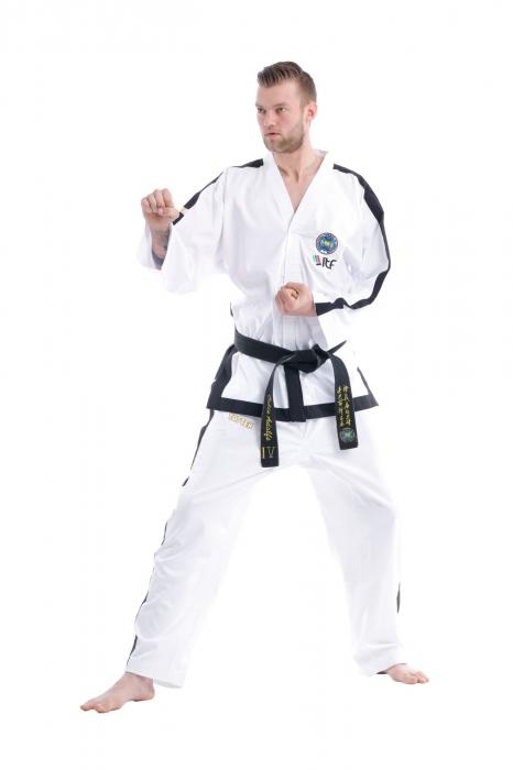 Kimono Dobok,Top Ten, Premium Gold ITF pentru Taekwon-do Instructor, alb,160 cm [1]