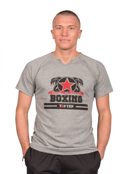"""Tricou """"Boxing"""" - gri [0]"""
